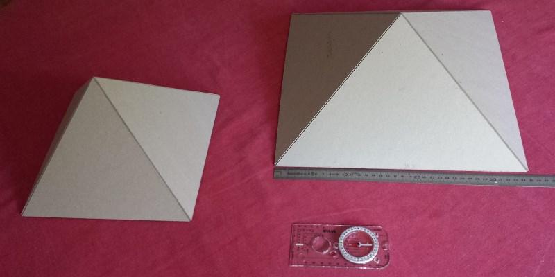 Mes pyramides en carton